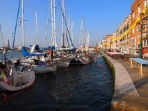 VENETIË, ITALIË - 07/18/2015: Voorbereidingen voor het Festival van de Verlosser Royalty-vrije Stock Afbeelding