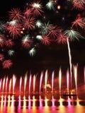 Venetië, Italië - vuurwerk bij het Festival van de Verlosser Stock Afbeelding