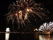 Venetië, Italië - vuurwerk bij het Festival van de Verlosser Royalty-vrije Stock Afbeeldingen