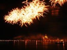 Venetië, Italië - vuurwerk bij het Festival van de Verlosser Royalty-vrije Stock Foto