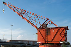 VENETIË, ITALY/EUROPE - 12 OKTOBER: Rode kraan in Venetië Italië  Stock Foto's