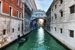 Venetië. Kanaal #6. stock foto's