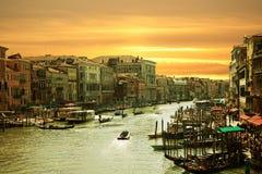 Venetië, kanaal grande Royalty-vrije Stock Afbeelding