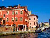 Venetië - Kleurrijke architectuur Royalty-vrije Stock Afbeeldingen