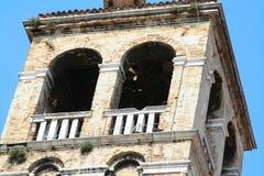 Venetië, klokketoren stock foto