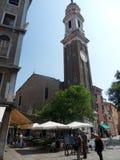 Venetië - Klokketoren van de Heilige Apostelen stock afbeelding