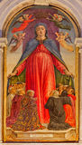Venetië - La-Maagdelijke misericordia van verginedella (van gunst) door de Basiliek Di San Giovanni e Paolo van Bartolomeo Vivari stock afbeelding