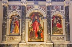 Venetië - La-misericordia van verginedella door de kerk van de Basiliekdi San Giovanni e Paolo van Bartolomeo Vivarini 1432 - 149 Stock Afbeelding
