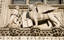 Venetië - leeuw van st. Teken royalty-vrije stock foto's
