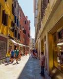 Venetië - Mening aan architectuur oude stad Royalty-vrije Stock Foto's