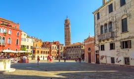 Venetië - Mening aan architectuur oude stad Royalty-vrije Stock Fotografie