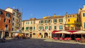 Venetië - Mening aan architectuur oude stad Royalty-vrije Stock Foto