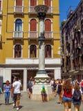 Venetië - Mening aan architectuur oude stad Stock Foto