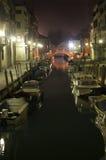 Venetië in nacht Stock Fotografie