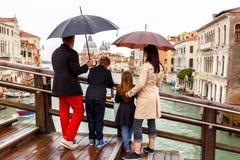 Venetië op een regenachtige dag Stock Fotografie