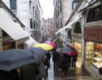 Venetië op een Romantische Regenende Dag Royalty-vrije Stock Afbeelding