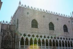 Venetië, Piazza, San Marco, Palazzo Ducale stock foto's