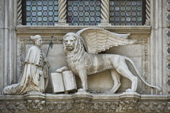 Venetië - Porta della Carta Stock Afbeeldingen