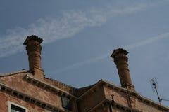 Venetië, schoorstenen stock afbeeldingen
