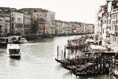 Venetië in uitstekende tinten stock fotografie