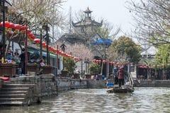 Venetië van het Oosten - Kanaal dichtbij Shanghai stock afbeelding