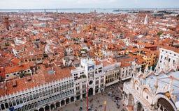 Venetië van hierboven, San Marco Square royalty-vrije stock afbeeldingen