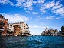 Venetië - Venezia - Grand Canal en de paleizen stock afbeeldingen
