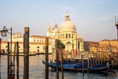 Venetië in vroeg ochtendlicht stock afbeelding