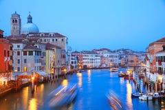 Venetië in zonsonderganglicht stock foto