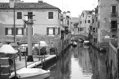 Venetië in zwart-wit stock afbeelding