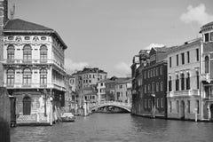 Venetië in zwart-wit Stock Fotografie