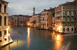 Venetië bij nacht Stock Foto's