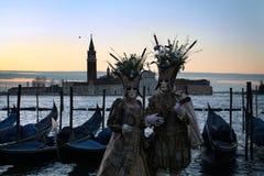 Venetië Carnaval 2016 Stock Fotografie