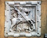 Venetië: heilige George en de draak Stock Foto's