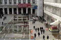 Veneti?, Itali? Piazza San Marco of st Tekenvierkant Mening van Basilica Di San Marco royalty-vrije stock fotografie