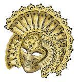 Venetiaans Carnaval masker. vector illustratie