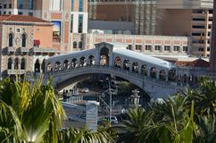 Venetiaans Las Vegas, vervoer, oriëntatiepunt, stad, architectuur stock fotografie