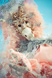 Venetiaans masker modelCarnival 2016 in het vierkant van San Marco stock afbeelding