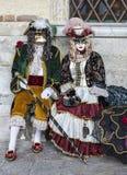 Venetiaans Paar Royalty-vrije Stock Afbeeldingen