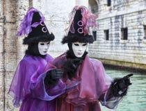 Venetiaans Paar Stock Afbeeldingen