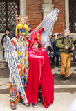 Venetiaans Paar - Venetië Carnaval 2014 Stock Fotografie