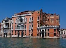 Venetiaans Paleis bij het Kanaal Grande, Venetië Stock Foto's