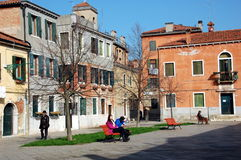 Venetiaans vierkant, Italië Royalty-vrije Stock Foto