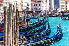 Venetiaanse Gondels Venetië Italië Stock Foto's
