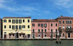 Venetiaanse huizen Stock Afbeelding