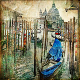 Venetiaanse kanalen Royalty-vrije Stock Foto