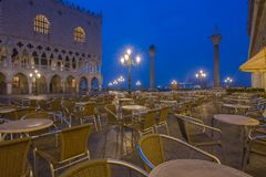 Venetiaanse koffie bij zonsopgang Stock Foto