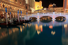 Venetiaanse Las Vegas bij nacht Stock Foto's
