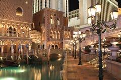 Venetiaanse Las Vegas bij nacht Stock Foto