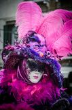 Venetiaanse Maskers in Carnaval royalty-vrije stock foto